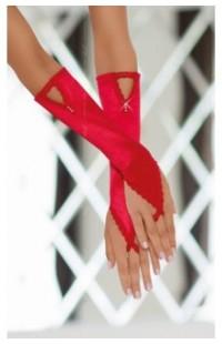 771030 Перчатки атласные (S/L красные)