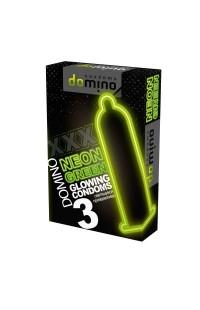 "Презервативы ""DOMINO NEON GRTEEN"" светящиеся 3 шт"